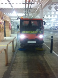 Cleaning underground car parks